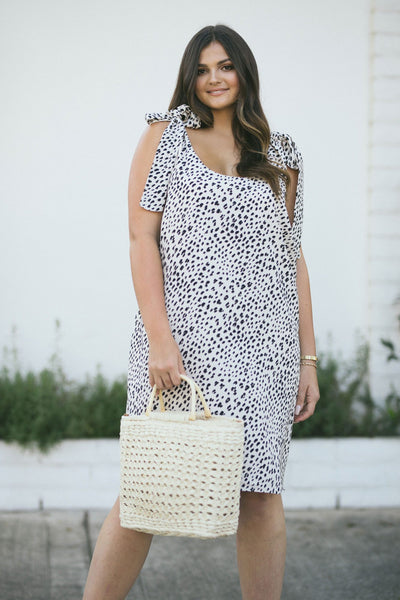 Curvy Kayla Leopard Mini Dress Dresses Andree by Unit Leopard 1X