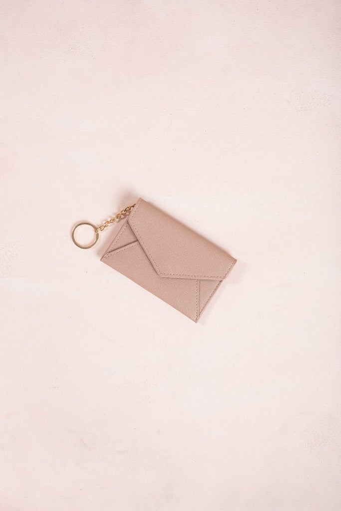 Kelsey Wallet Keychain Handbags MMS Taupe