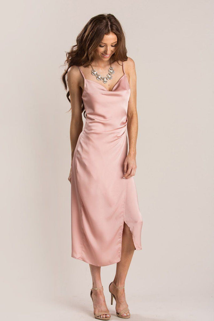 Maddy Slip Dress Dresses Re:Named Dusty Pink Small