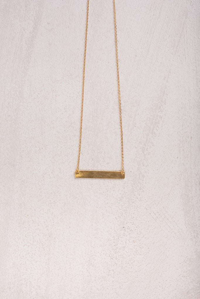 Cecilia Gold Dainty Bar Necklace Necklaces Fame Gold