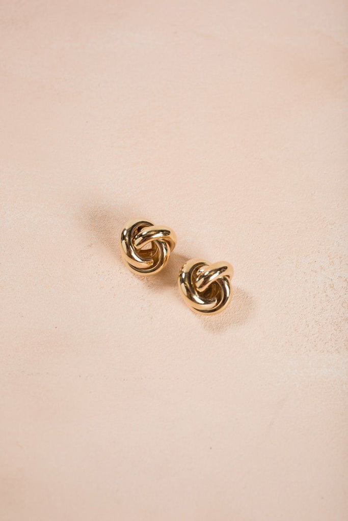 Alessia Gold Spiral Earrings Earrings Fame Gold