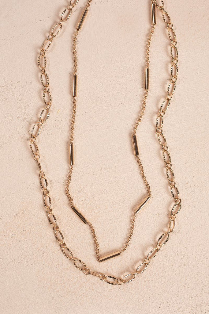 Skylar Gold Layered Necklace Necklaces Joia Gold