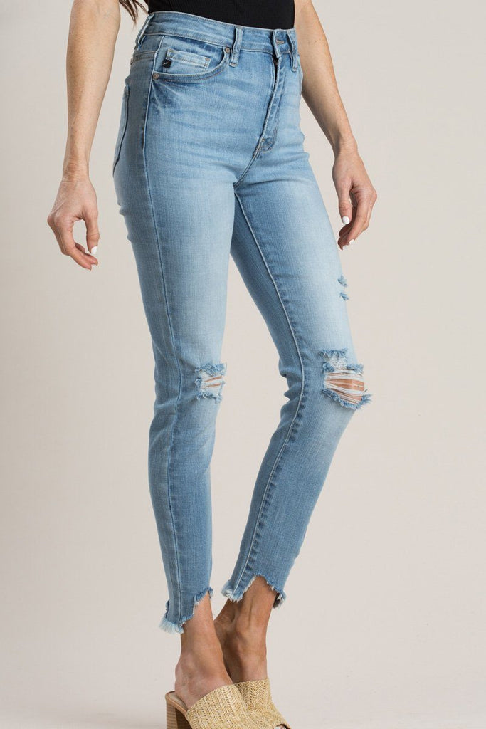 Gemma High Rise Ankle Skinny Jeans Jeans Kan Can Light 1/24