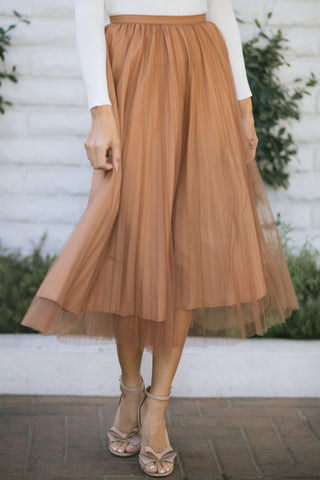 Alice Pleated Tulle Midi Skirt Skirts RIVIR
