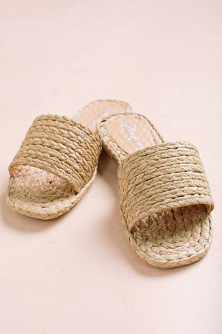 Matisse Hallie Raffia Slide Shoes Morning Lavender