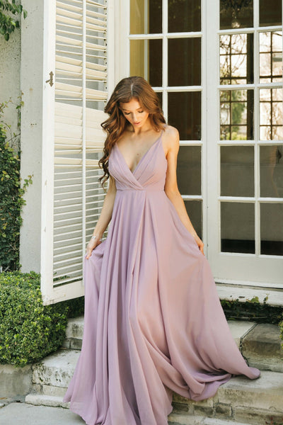 Cassidy Flowy Maxi Dress Dresses Maniju Lavender-Mauve Small