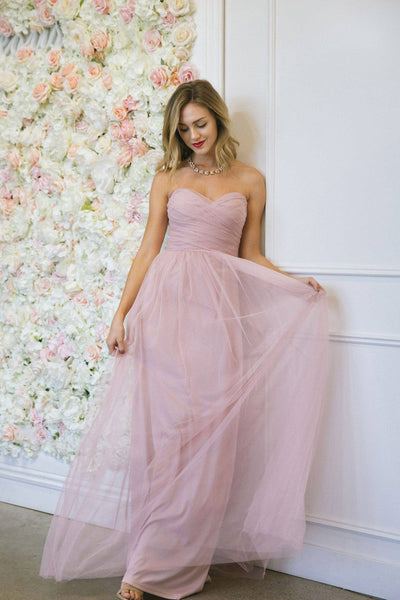 Brielle Tulle Maxi Dress Dresses Maniju Light Mauve Small