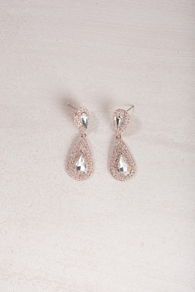 Mandy Crystal Teardrop Earrings Earrings Ana Crystal