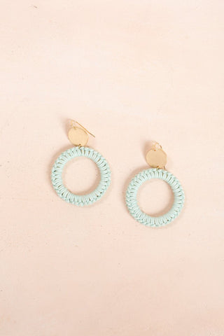 Christy Dangle Earrings Earrings Joia Teal