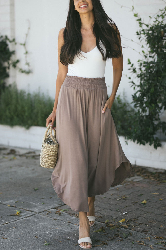 Andie Smocked Maxi Skirt Skirts ee:some