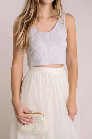 Nina Ribbed Crop Tank Tops Double Zero
