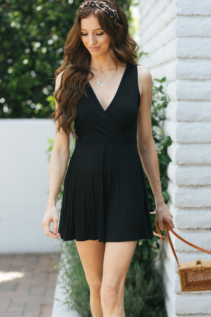 Angie V-Neck Sleeveless Romper Rompers Final Touch