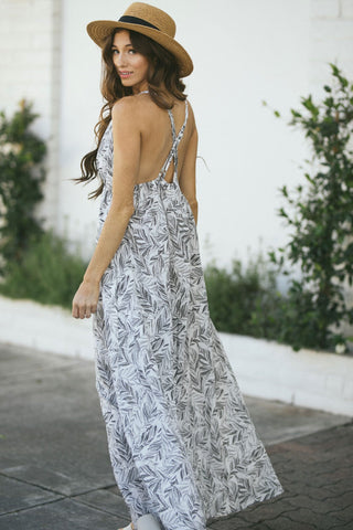 Felicity Strappy Printed Maxi Dress Dresses Aakaa