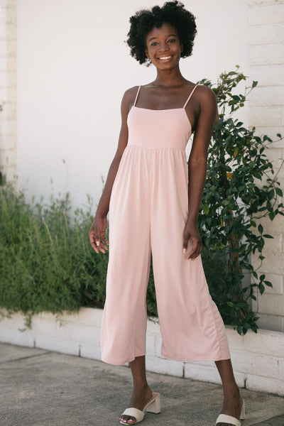 Michelle Cami Knit Jumpsuit Jumpsuits Style Melody Pink Small