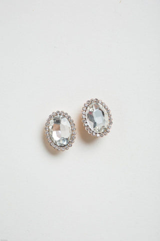 Andie Crystal Oval Earrings