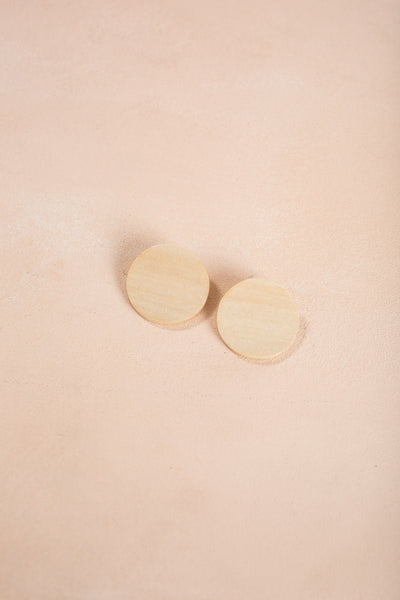 Toni Wooden Circle Earrings Earrings Fame Wood