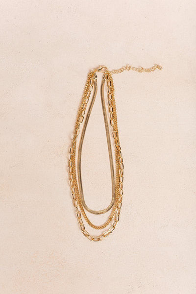 Kailey Layered Necklace Necklaces Fame Gold
