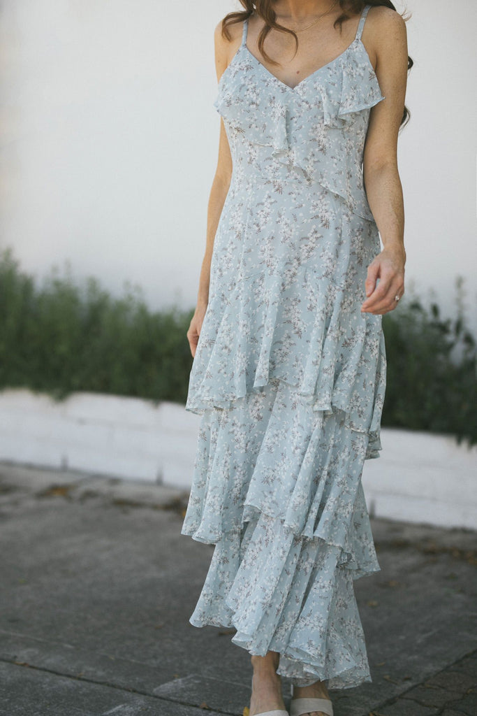 Rachel Floral Ruffled Maxi Dress Dresses Offline Inc