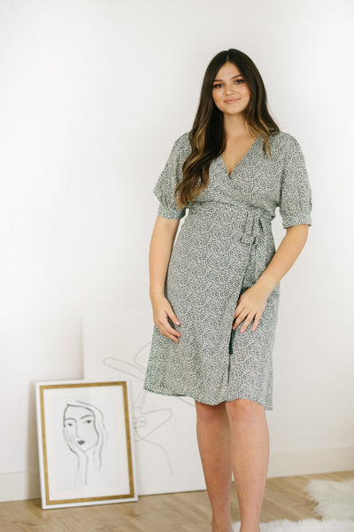 Rebecca Wrap Midi Dress Dresses She + Sky