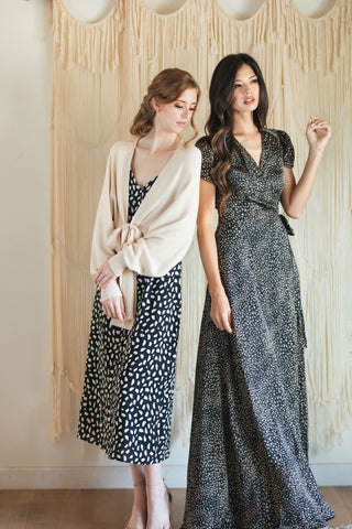 Davina Short Sleeve Wrap Maxi Dress Dresses Aakaa