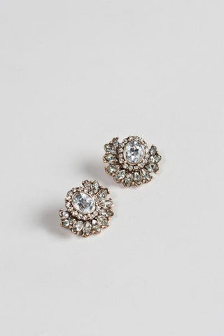 Clarisse Crystal Cluster Earrings