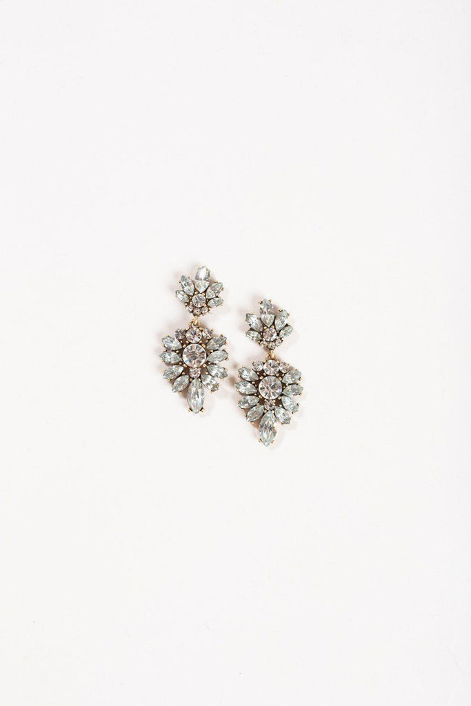 Talia Silver Crystal Earrings Earrings JOIA