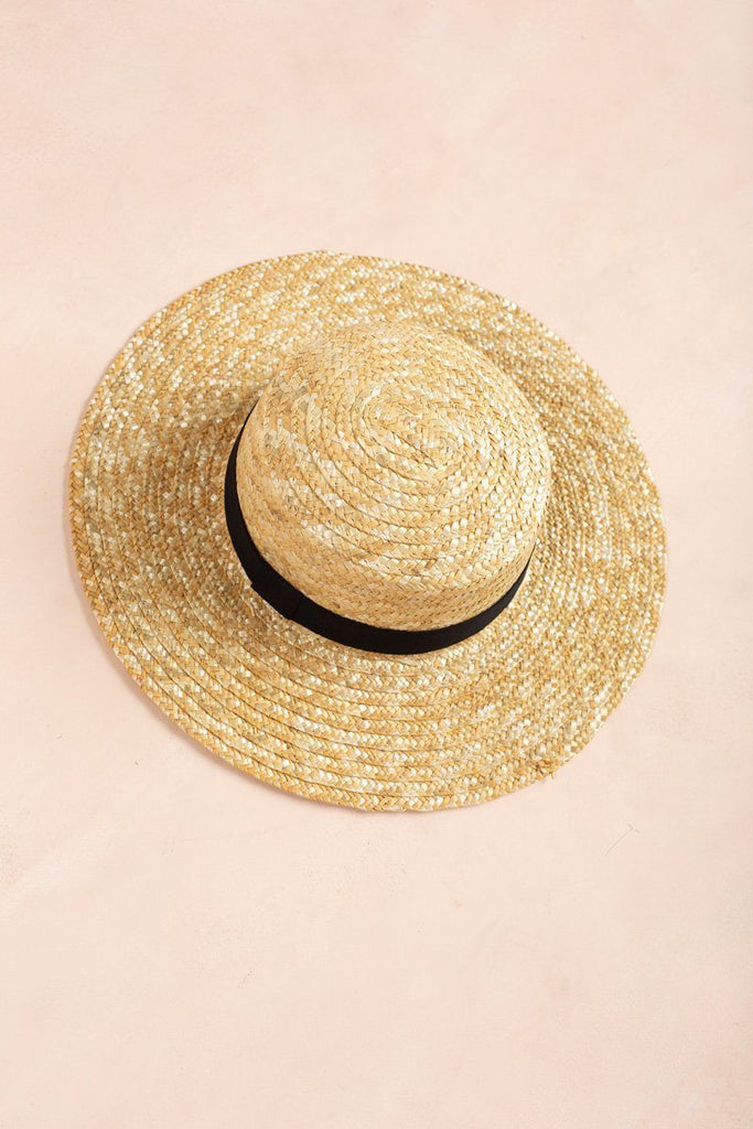 Kenna Wide Brim Straw Boater Hat Hats Joia