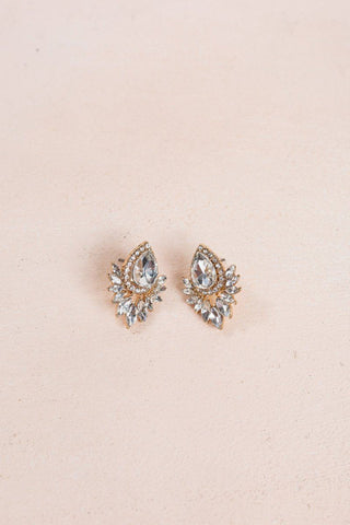 Jennie Crystal Earrings Earrings Ana
