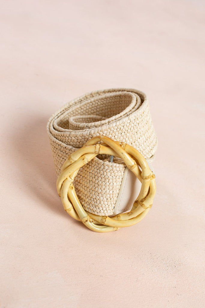 Morgan Ivory Straw Belt Belts Joia Ivory