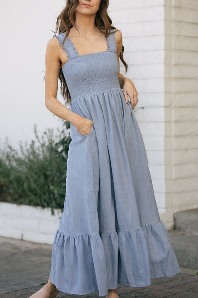 Courtney Smocked Maxi Dress Dresses Listicle
