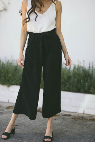 Julianne High Waist Textured Pants Pants LUSH