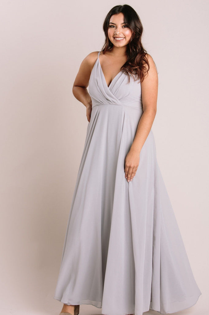 Petite Cassidy Flowy Maxi Dress Dresses Maniju Grey LP
