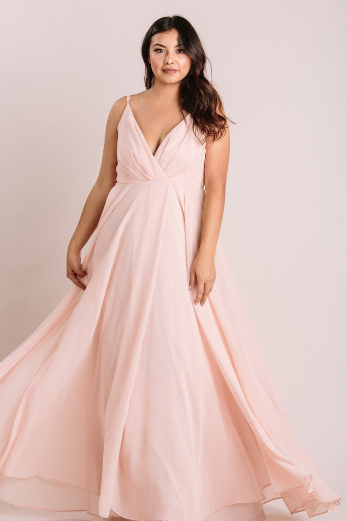Petite Cassidy Blush Flowy Maxi Dress Dresses Maniju Blush LP