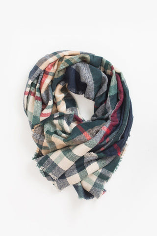 Joy Plaid Knitted Scarf