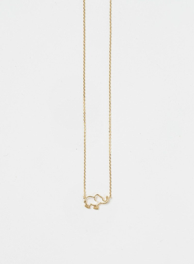 Ellie Elephant Gold Dainty Necklace Necklaces Other