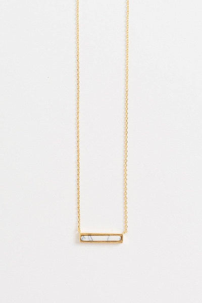 Alina Marble Bar Dainty Gold Necklace Necklaces Other