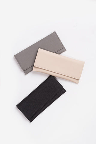 Kailey Beige Faux Leather Wallet