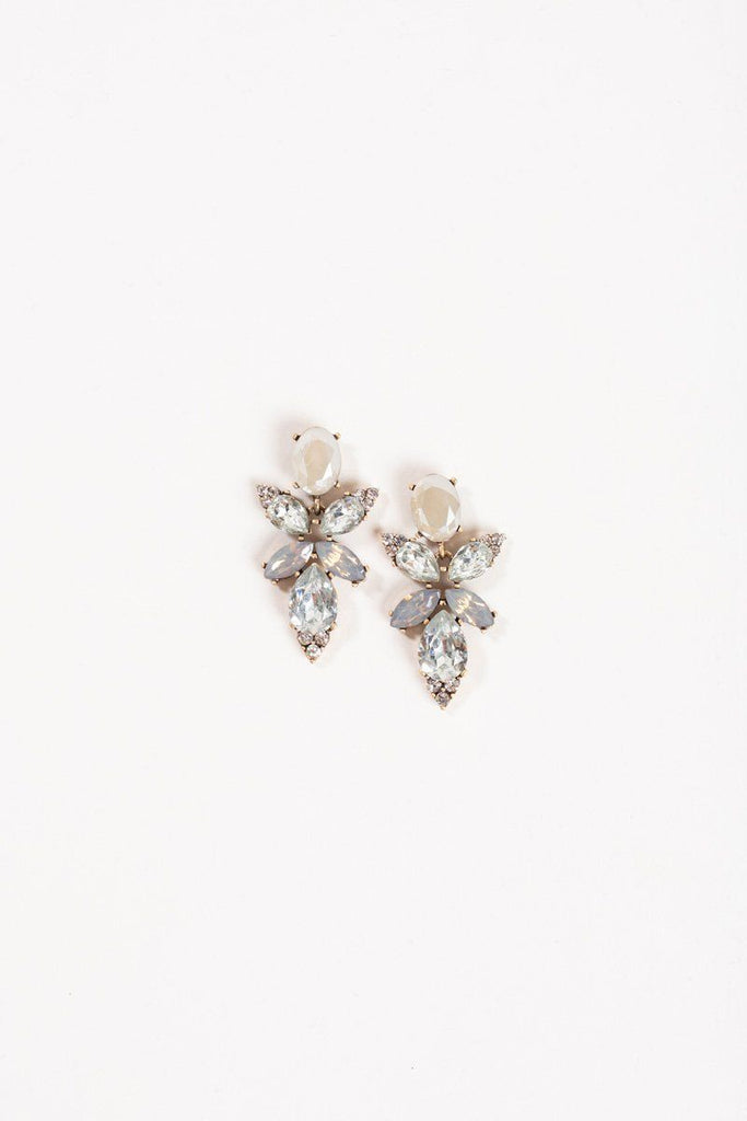 Agatha Taupe Crystal Earrings