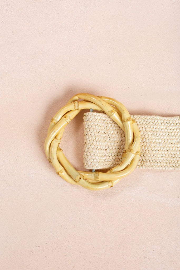 Morgan Ivory Straw Belt Belts Joia