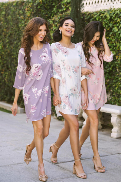 Georgina Floral Shift Dress Dresses Everly
