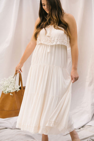 Curvy Sherry Crochet Detail Maxi Dress Dresses Doe & Rae