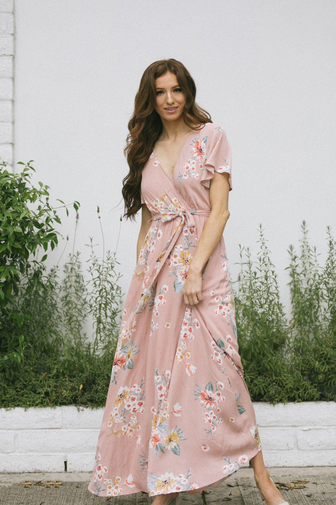 Perla Floral Maxi Dress Dresses Illa Illa Blush Small