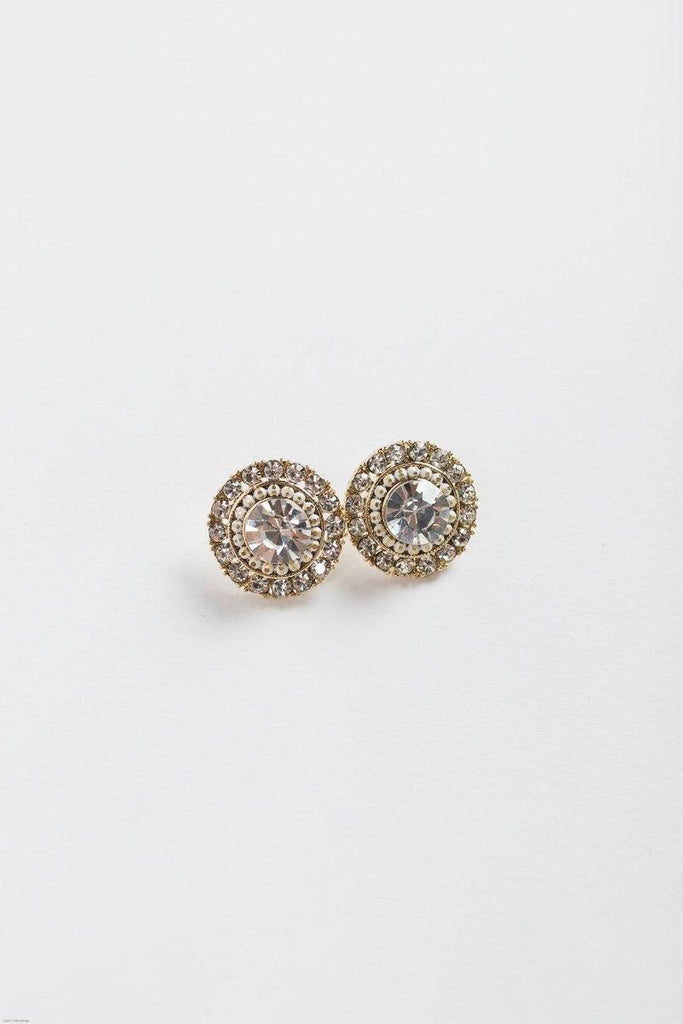 Tasha Round Crystal Earrings