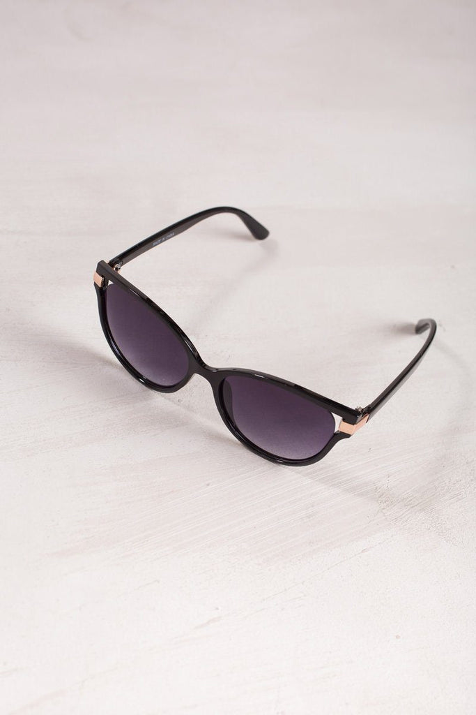 Gigi Cat Eye Sunglasses Sunglasses Joia Black