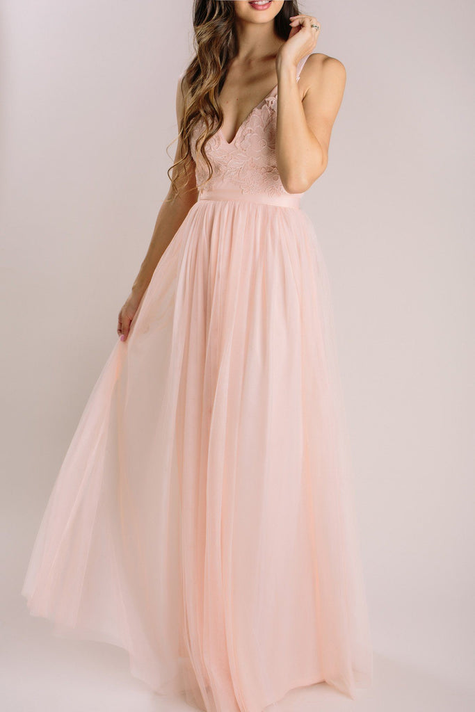 Audrey Blush Tulle Gown Dresses Maniju Blush Small