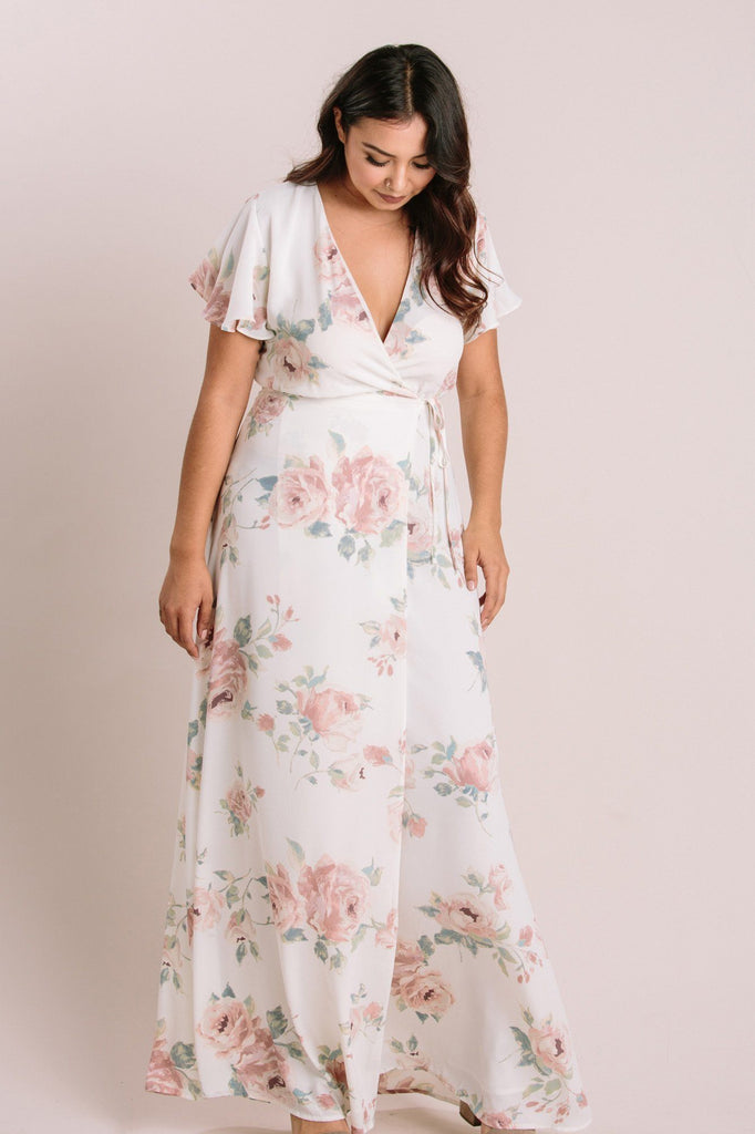 Petite Charlotte Floral Wrap Maxi Dress Dresses Everly