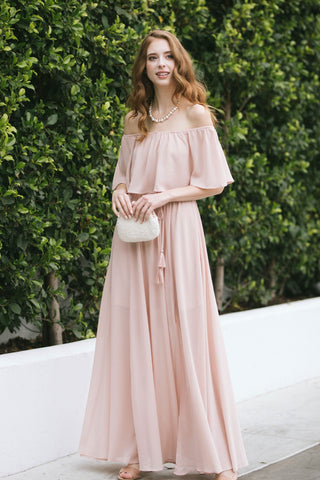 Alina Off the Shoulder Maxi Dress Dresses Aakaa