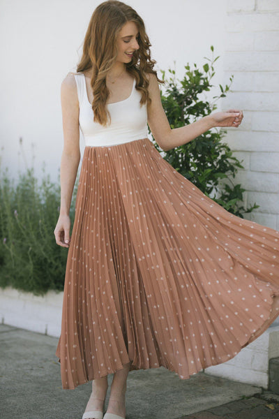 Sarah Pleated Maxi Skirt Skirts Ces Femme Mauve Small