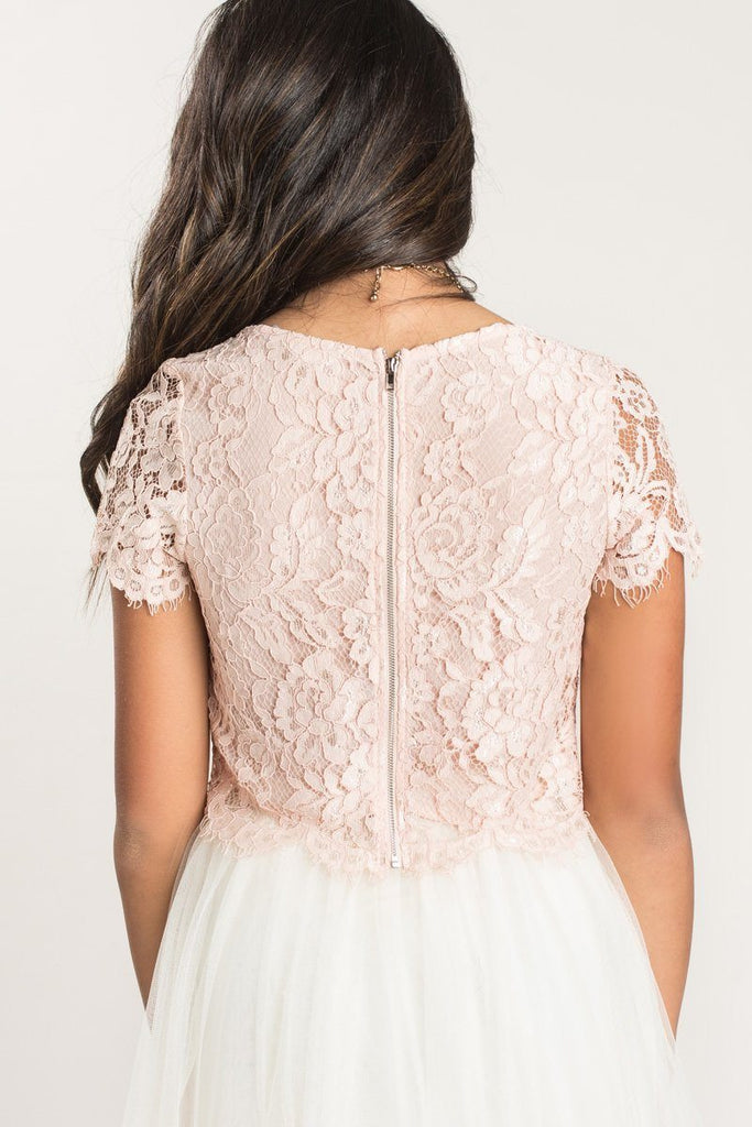 Ellie Short Sleeve Lace Top Tops Maniju