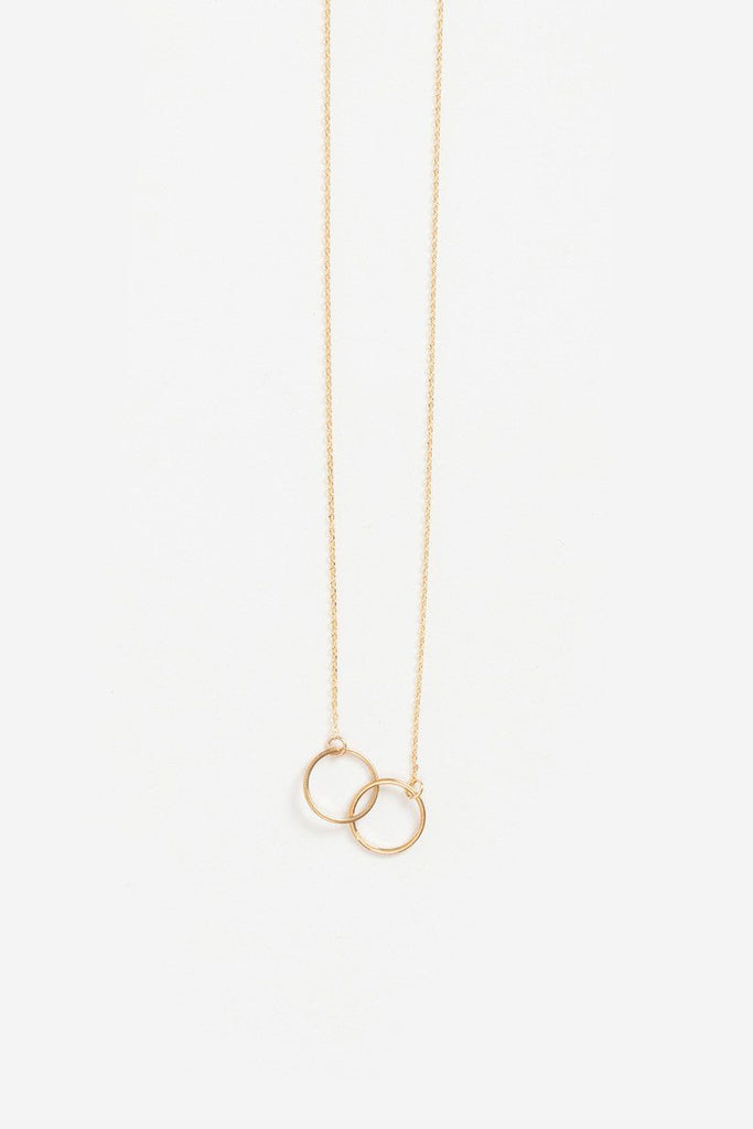 Madison Double Circle Dainty Gold Necklace Necklaces Morning Lavender